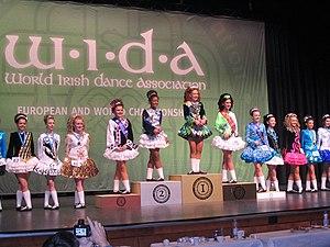 World Irish Dance Association - Awards ceremony at the 2013 WIDA World Championships in Dusseldorf