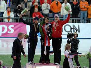 2009 World Allround Speed Skating Championships - Image: W Ch podium women 2009