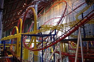 June 14: The Mindbender at Galaxyland inside West Edmonton Mall derails, kills three riders, injures one rider, and slams into a concrete post WEM Galaxyland MindBender Galaxy Orbitter.JPG