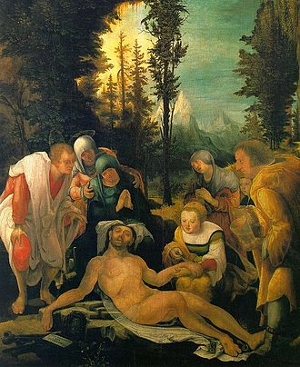 Wolf Huber - The Mourning of Christ (1524), by Wolf Huber.