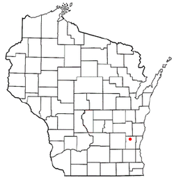 Location of Barton, Wisconsin