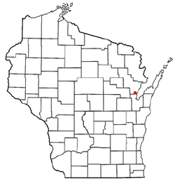 Location of Little Suamico, Wisconsin