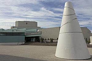 Warwick Arts Centre - Warwick Arts Centre, with White Koan by Liliane Lijn in the foreground.