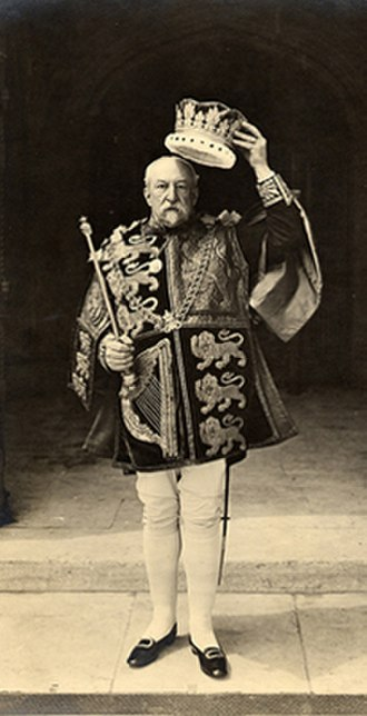 William Weldon (officer of arms) - Sir William Henry Weldon is shown here at the coronation of King Edward VII in 1902. Weldon is doffing the coronet of office of an English King of Arms.