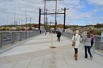 Manayunk Bridge - Walkers on the Manayunk Bridge Trail in October 2015, shortly after the trail opened