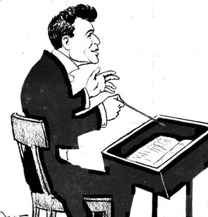Bruno Walter - Caricature of Walter conducting
