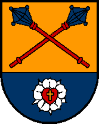 Luther rose - Image: Wappen at kirchberg thening