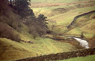 Haltwhistle - Haltwhistle Burn between the town and Hadrian's wall