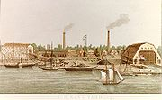 Washington Navy Yard lithograph 1862