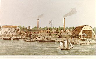The Washington Navy Yard in 1862 Washington Navy Yard lithograph 1862.jpg