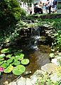 Waterfall and pond at a garden party.jpg