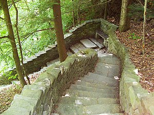 Watkins Glen State Park - Jacob's Ladder, near the upper entrance to the park, has 180 stone steps, part of the 832 total on the trails