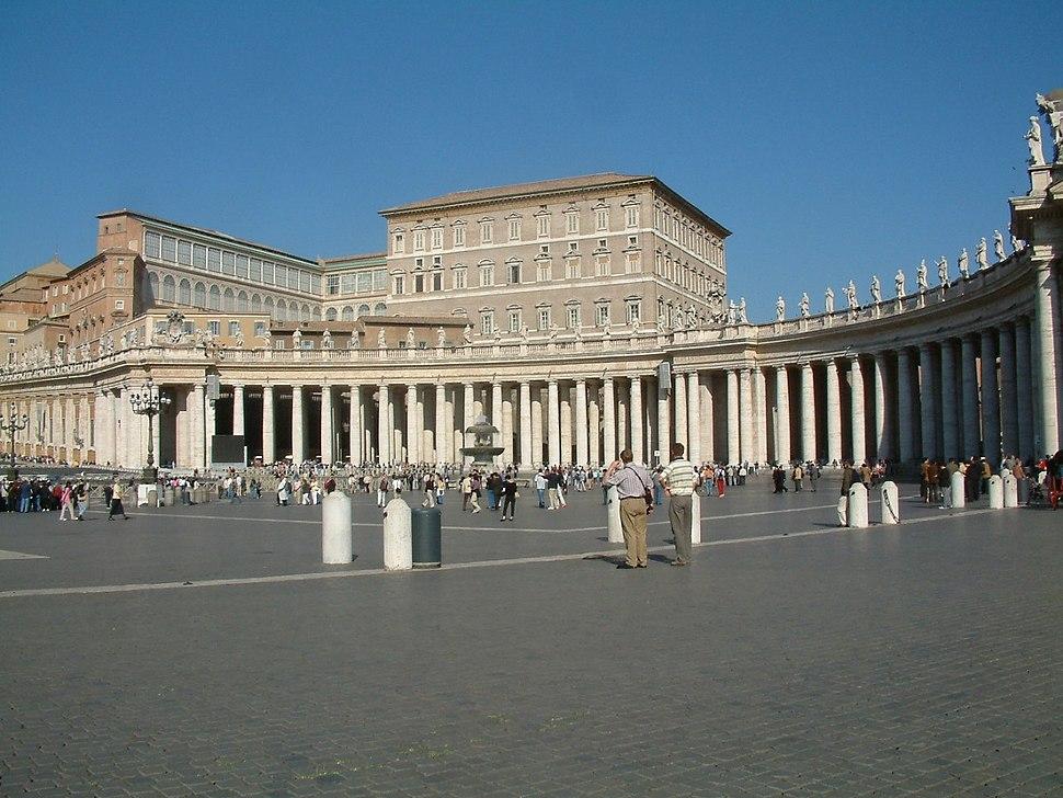 Watykan Plac sw Piora kolumnada Berniniego