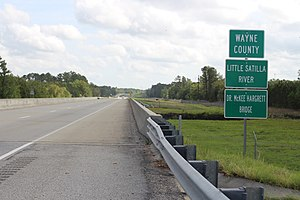 Little Satilla River (Satilla River) - Little Satilla River is the boundary between Wayne and Pierce counties.