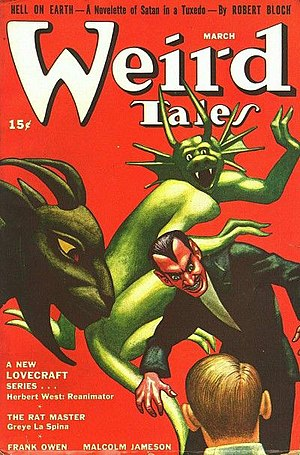 Cover of the pulp magazine Weird Tales (March ...