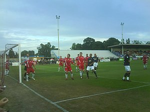 Welling United F.C. - Welling playing Millwall in a pre-season friendly at Park View Road.