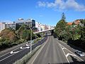Wellington Urban Motorway passing through the Bolton Street Memorial Park - June 2012.JPG