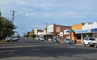 Werris Creek Town in New South Wales, Australia