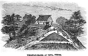 Viwa Island - Image: Wesleyan Chapel at Vewa, Feejee (VII, p.50, May 1950) Copy