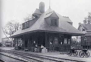 New York and Greenwood Lake Railway (1878–1943) - Image: West Orange Station 1909