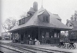New York and Greenwood Lake Railway (1878–1943) - Image: West Orange Station 1909