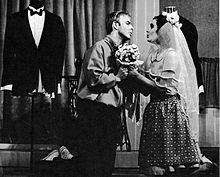 Arne Strömgren som Tony og Eva Serning som Maria på Oscarsteatern 1965.