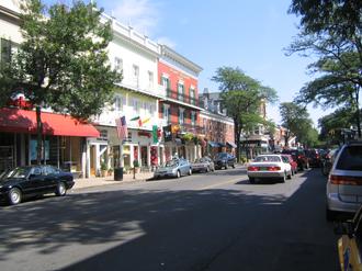 Westfield, New Jersey - Downtown Westfield, NJ. July 21, 2005