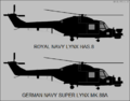 Westland Lynx HAS.8 and Super Lynx Mk.88 side-view silhouettes.png
