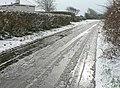 Wet road, Frampton - geograph.org.uk - 1149229.jpg
