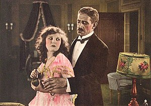 Why Girls Leave Home (1921 film) - Cropped lobby card with Maurine Powers and Claude King
