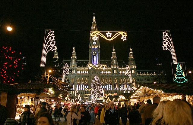 Wien Rathaus Christkindlmarkt Dez2006B