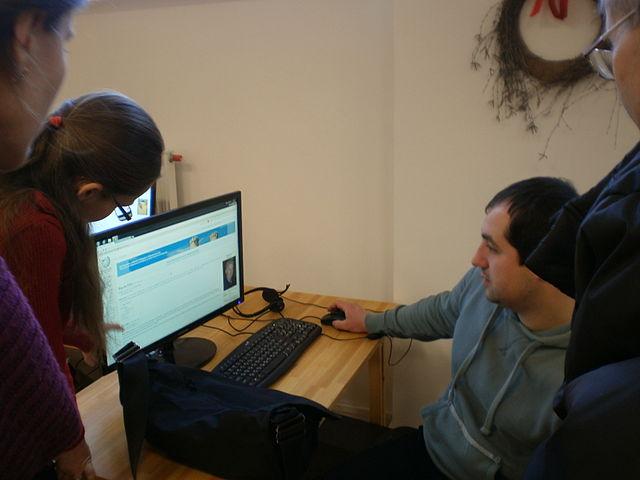 Учасники Вікіфлешмобу у Першій львівській медіатеці