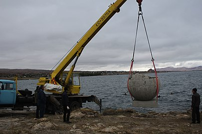 Wikipedia globe near Lake Sevan 05.jpg