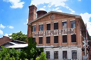 National Register of Historic Places listings in DeKalb County, Alabama - Image: Wikipedia wb davis hosiery mill 2012 09 05