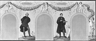 Bildnisse der Künstler Wilhelm von Kaulbach und Johann Schraudolph