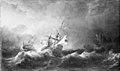 Willem II van de Velde - Dutch Men-of-War in a Storm off a Rocky Coast - KMSsp560 - Statens Museum for Kunst.jpg