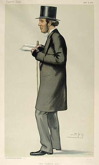 William Henry Gladstone - Caricature by Spy published in Vanity Fair in 1882.