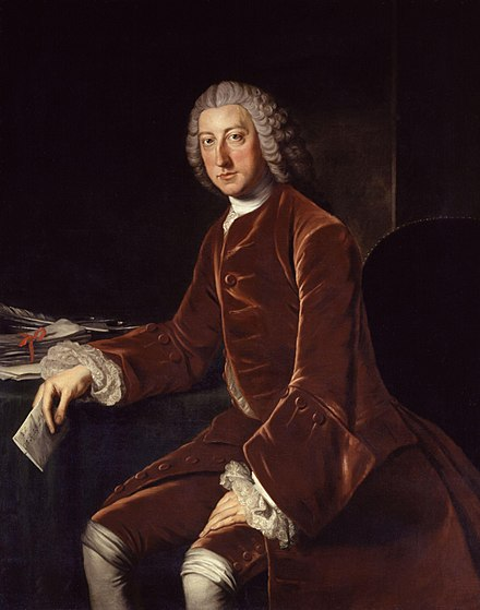 Under Pitt's leadership, Britain's position as the leading colonial power was confirmed by the Seven Years' War. William Pitt, 1st Earl of Chatham by William Hoare.jpg