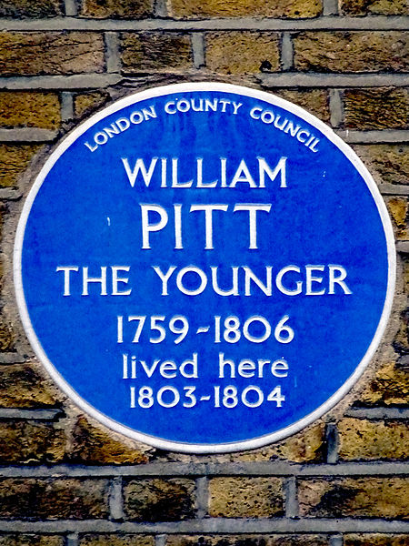 File:William Pitt the Younger 1759-1806 Prime Minister lived here 1803 to 1804.jpg