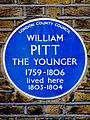 William Pitt the Younger 1759-1806 Prime Minister lived here 1803 to 1804.jpg