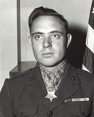 Hershel W. Williams - Williams as a corporal in 1945