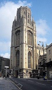 The University of Bristol's Wills Memorial Building - a familiar landmark at the top of Park Street
