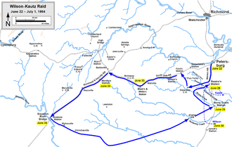 Battle of Staunton River Bridge - Wilson-Kautz Raid, June 22–July 1