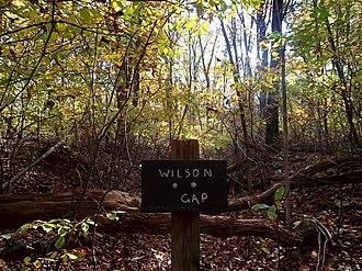 Wilson Gap - Sign for Wilson Gap on the Appalachian Trail
