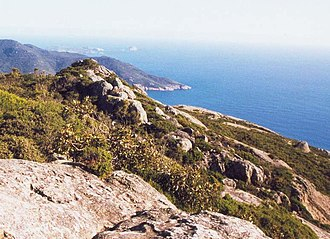 Wilsons Promontory - Looking south from Mount Oberon on Wilsons Promontory towards the southern tip of the Australian mainland.