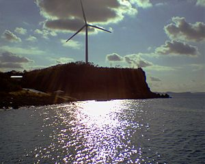 Genkai, Saga - A wind turbine in Genkai.