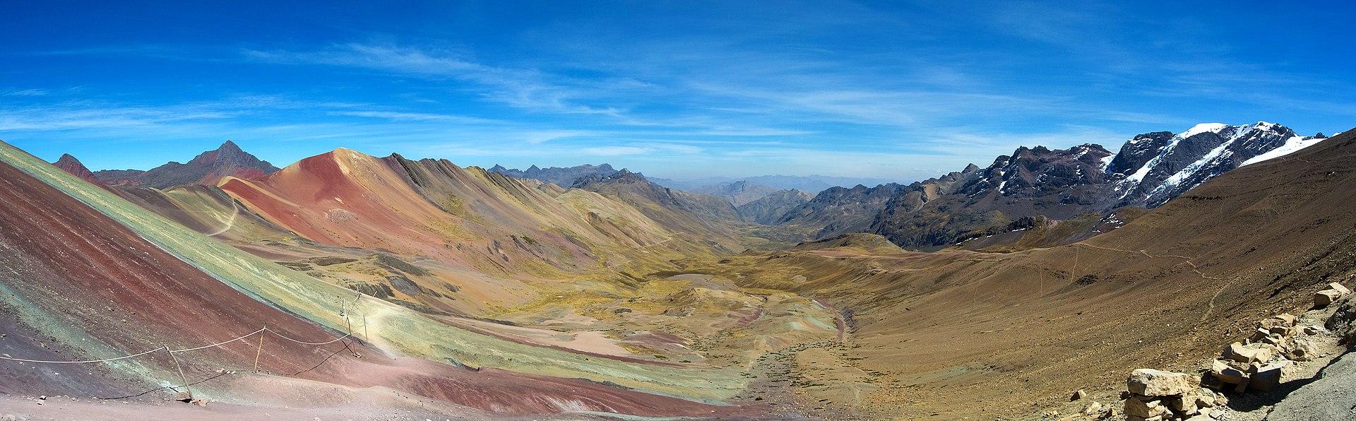 Vinincunca, Panorama de la montaña de los siete colores