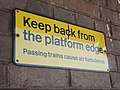 Witton Station - sign - Keep back from the platform edge (7951372888).jpg