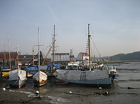 The harbour, with Woodbridge Tide Mill in the background