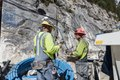 Work progresses inside the Colorado Stone Quarries mine high above the aptly named town of Marble in Gunnison County, Colorado LCCN2015633934.tif